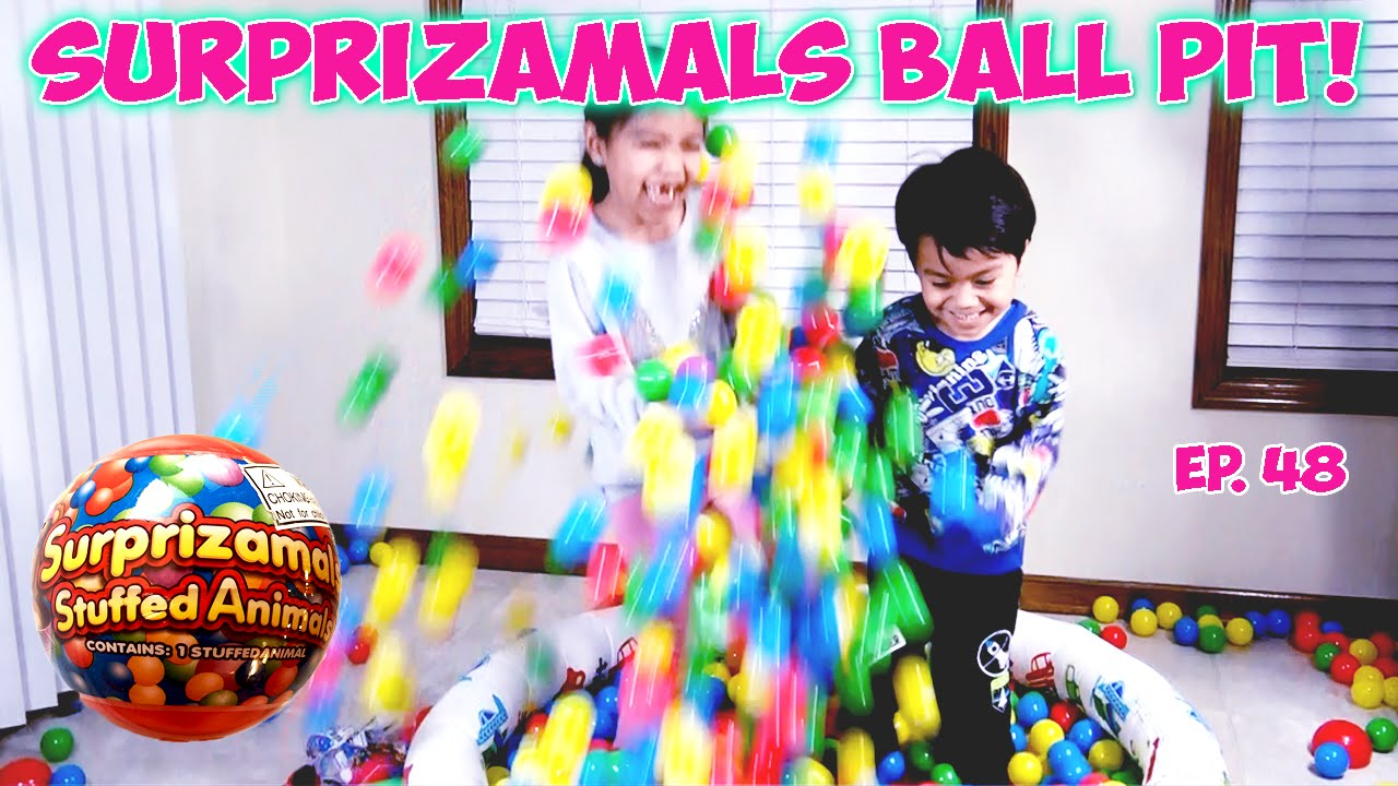 Ball Pit Filled With Surprizamals Series 1 Blind Bag