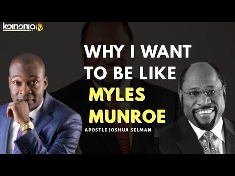 (TOUCHING SERMON) WHY I WANT TO BE LIKE MYLES MUNROE - Apostle Joshua Selman
