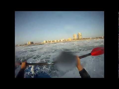 Kayak Surf till Sunset  Yamit Beach 2012