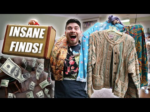 I FOUND A FAT STACK OF CLOTHES! HUGE ESTATE SALE HAUL!