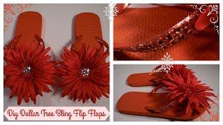 DIY - DOLLAR TREE BLING FLIP FLOPS * EASY * 07/17/17