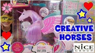 REAZIONE di Lara a  DREAM UNICORN CREATIVE HORSES By Nice Unboxing By Lara e Babou