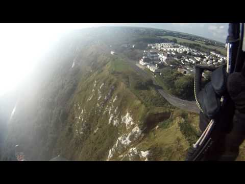 Flying the White Cliffs from Folkestone to Dover