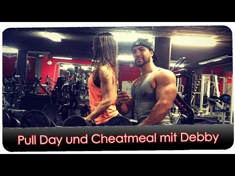 Pull Training und Post Cheatmeal mit Debby