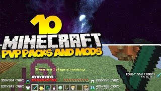 TOP 10 MINECRAFT PVP TEXTURE PACKS & PVP MODS - (Best Minecraft Mods & Resource Packs)