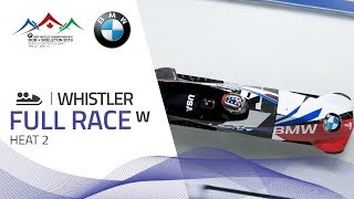 Whistler | BMW IBSF World Championships 2019 - Women's Bobsleigh Heat 2 | IBSF Official
