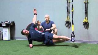 trx side plank with reach through
