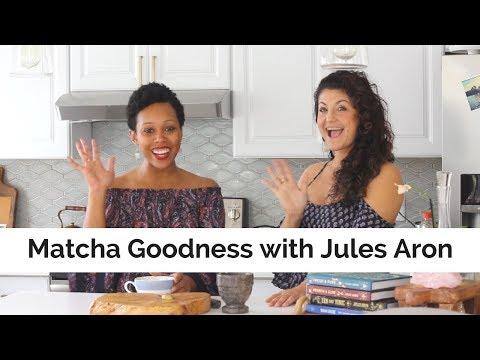 How to make a matcha latte + make a matcha face mask with Jules Aron
