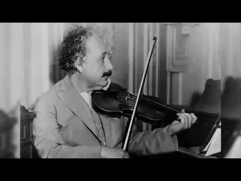 Einstein plays: Mozart violin sonata b flat major k.378