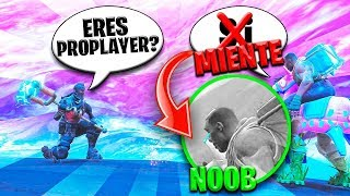 😱BOY Says It's PRO PLAYER and Really Is a NOOB in Fortnite!😆 (Help You)