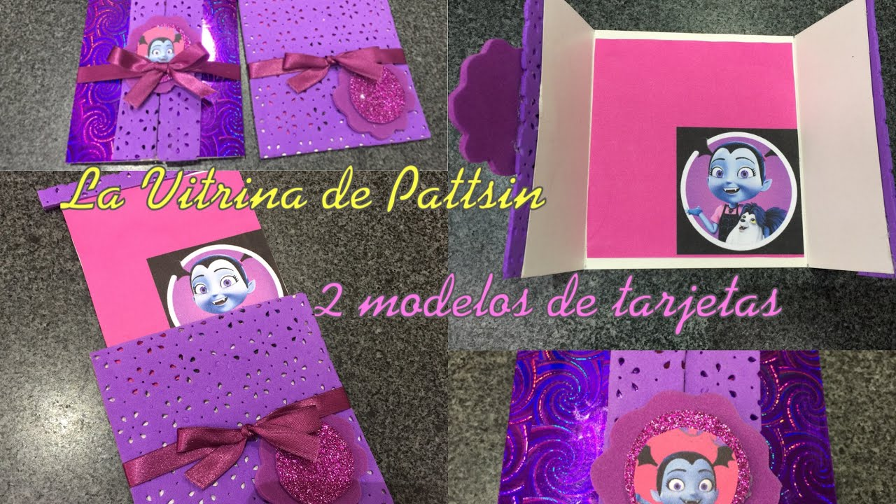 Tarjeta De Invitación Vampirina Dos Modelos Two Models Vampirina Birthday Card