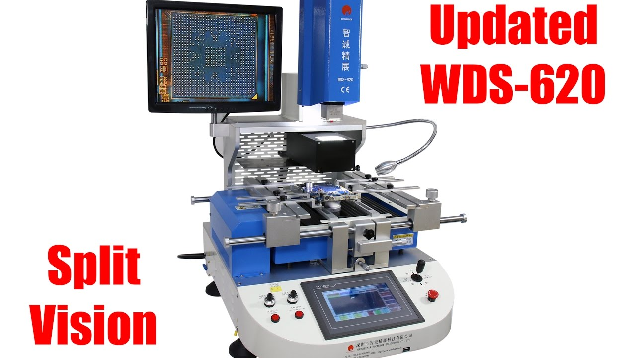 New Updated Bga Rework Station Wds 620v2 With Auto Pick Up Remove Plcc Ic Motherboard Circuit Board Extractor Puller Tool Ebay Chips And Split Vision