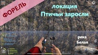 Русская рыбалка 4 река Белая Форель по наводке