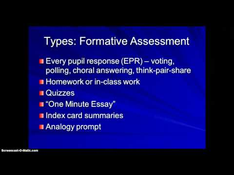 Pre-Assessment Part 1 - Formative and Summative