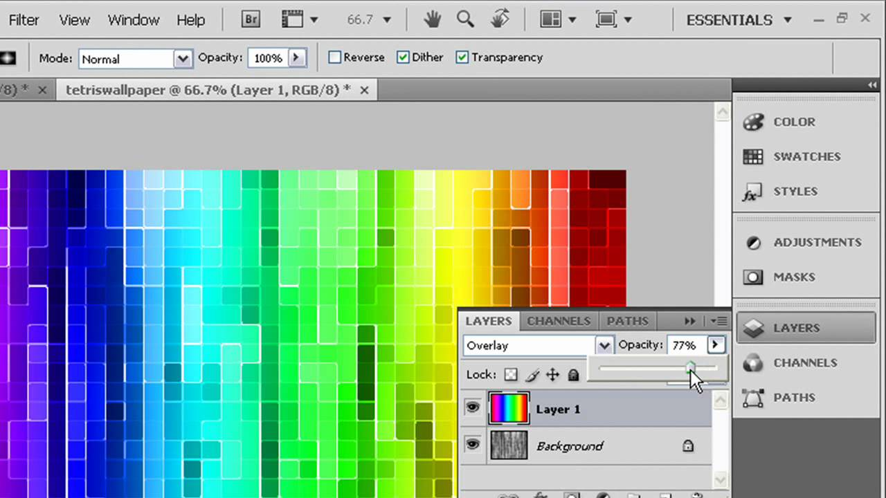 How To Make A Cool Colorful Tetris Wallpaper In Photoshop Youtube
