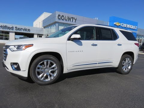 2019 Chevrolet Traverse High Country Awd Iridescent Pearl Tricoat