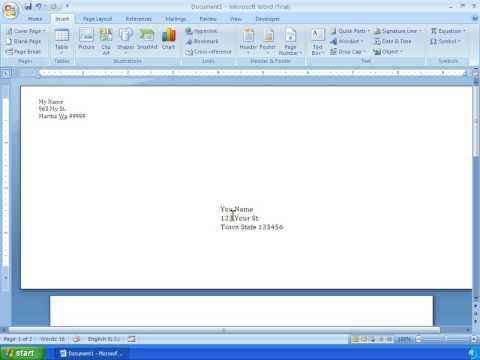 Word 2007 Tutorial 22 - Making An Envelope - YouTube