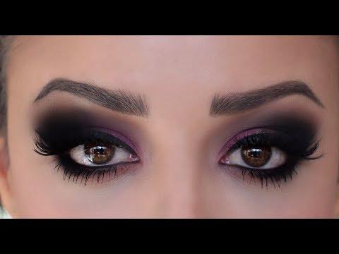 Matte plum smokey eye tutorial by angelmstyle meena.