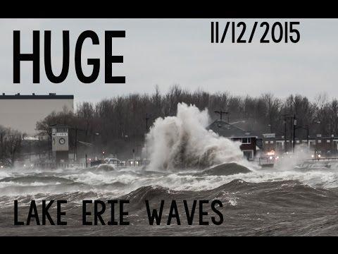 Huge Lake Erie Waves 11/12/2015