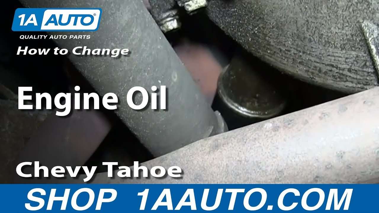how to perform an oil change 95 99 chevy tahoe [ 1280 x 720 Pixel ]