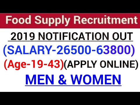 Food Supply Department Recruitment 2019|Govt jobs in June 2019|Latest Govt jobs 2019|June 2019 job