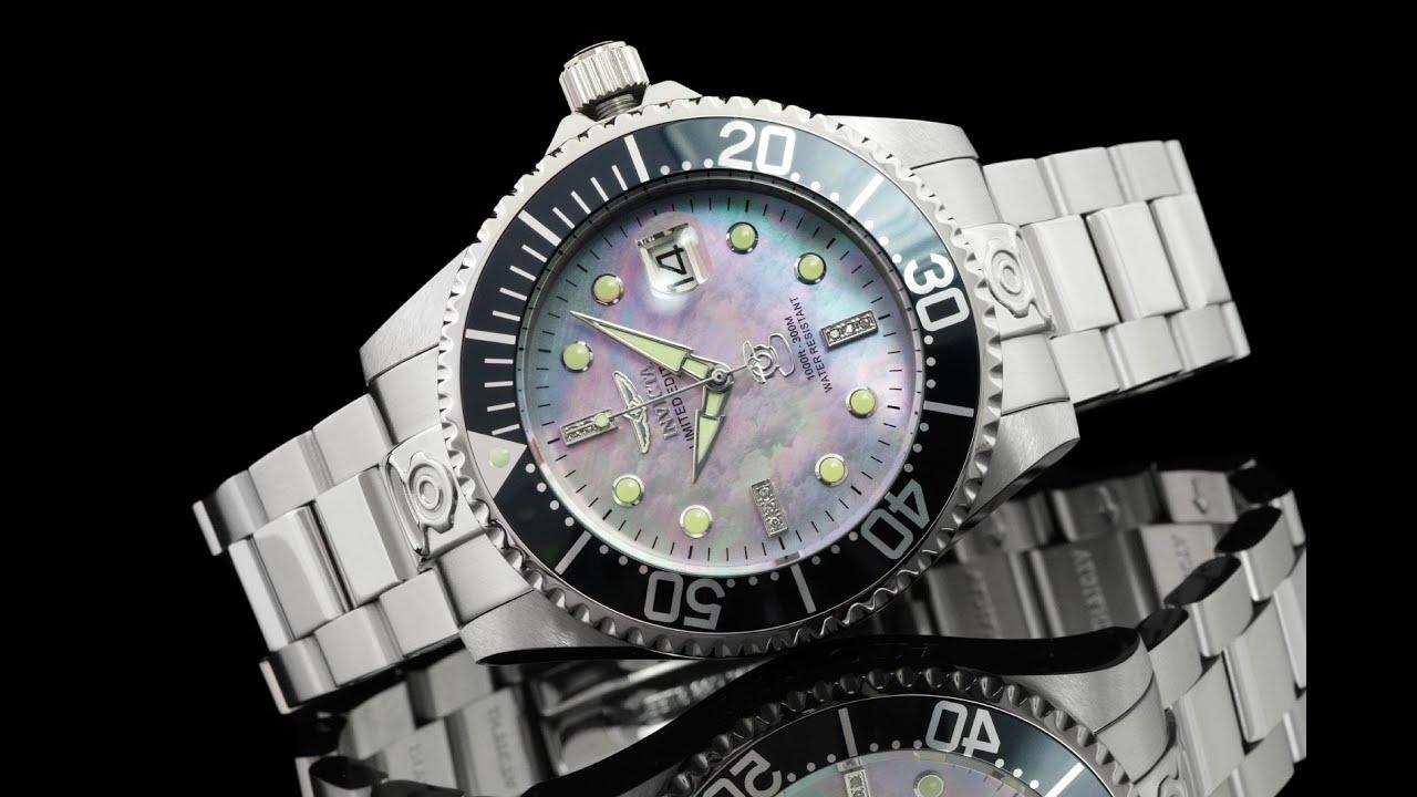 Invicta 22024 47mm Grand Diver Diamond Commemorative Edition Automatic  Bracelet Watch - YouTube