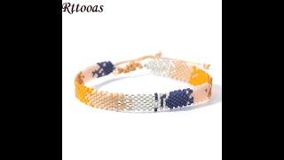 Rttooas модные miyuki бисерный браслет летние пляжные браслеты на ногу mujer 2021 регулируемый