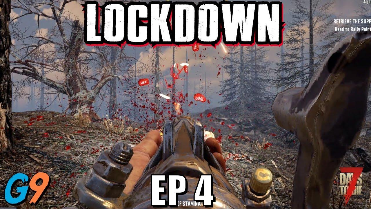 7 Days To Die - LockDown EP4 (Mini Bike and Jobs for Jen)