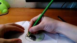 Как сделать глаз из бумаги (Оригами)(В этом видео я покажу как сделать реолистичный глаз (оригами) . Понадобится: бумага А4, ножницы, цв.карандаши))), 2015-04-11T15:37:24.000Z)