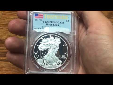 Unboxing The 2017- S Silver Proof American Eagle San Francisco PCGS PR69