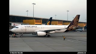 VISTARA UK707 Delhi to Kolkata Full Flight Coverage | Airbus A320-232 VT-TTE