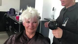 как сушить короткие волосы феном для женщин