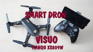 SMART DRONE VISUO (TIANQU XS809W) chytrý dron│Aliexpress česky│Unboxing - TEST - návod - recenze CZ