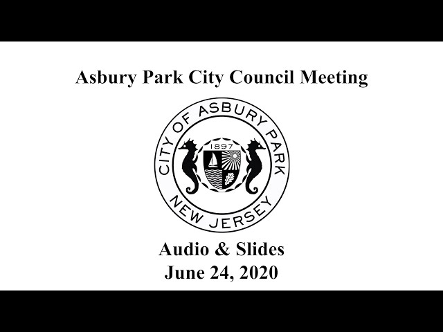 Asbury Park City Council Meeting - June 24, 2020