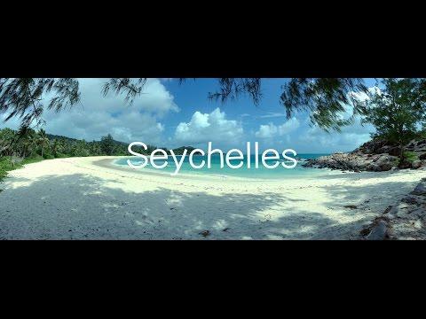 Mahe, La Digue, Silhouette, Praslin island of Seychelles 4K