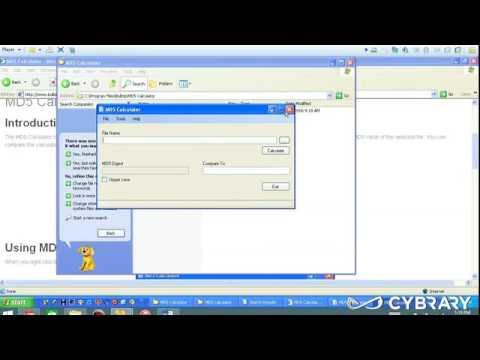 CHFI Module 02 Part 2   Investigative Process md5calc Lab from Cybrary IT on Vimeo