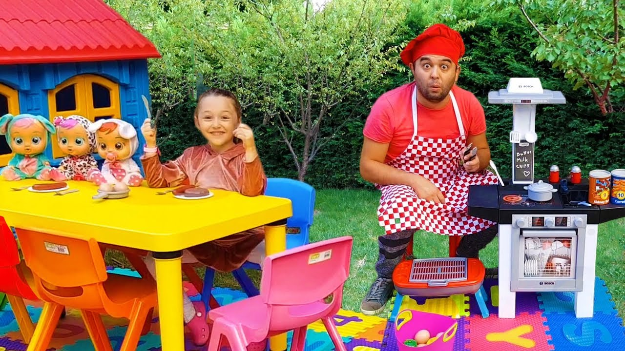 öykü Pretend Play W Cute Kitchen Restaurant Toy Cooking