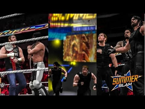 Thumbnail: WWE Summerslam 2017 - Rollins & Ambrose Win Tag Titles & The Shield Reunites (WWE 2K17)