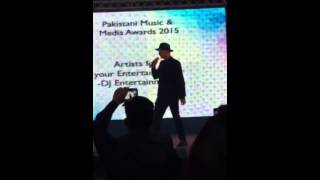Zack knight @ Pakistan music media awards 2015