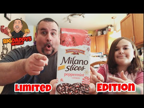 Pepperidge Farms Milano Cookies - Peppermint Slices Review | LIMITED EDITION