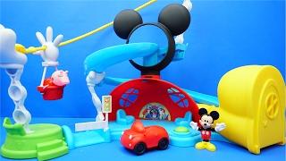 米奇妙妙屋 米老鼠的滑梯城堡 玩具 小豬佩奇