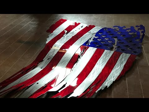 7ft. Flag - Step By Step Video Series - Making A Tattered Metal American Flag