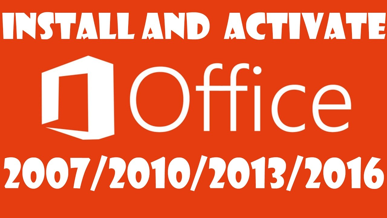 How to Install and Activate MS Office 2016/2013/2010 for ...