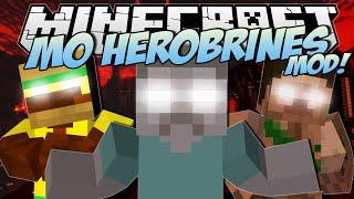 Repeat youtube video Minecraft | HEROBRINES MOD! (Dr Trayaurus Captures Herobrine!) | Mod Showcase