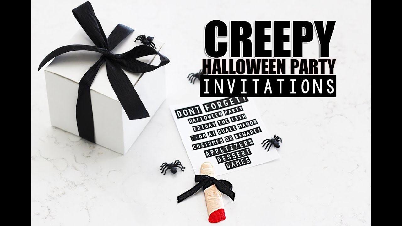 Halloween Party Invitations CREEPY - YouTube
