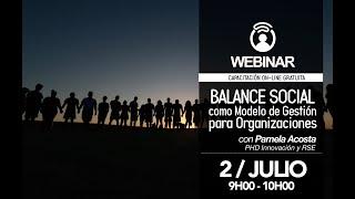 Webinar CERES: Balance Social como Modelo de Gestión para las Organizaciones