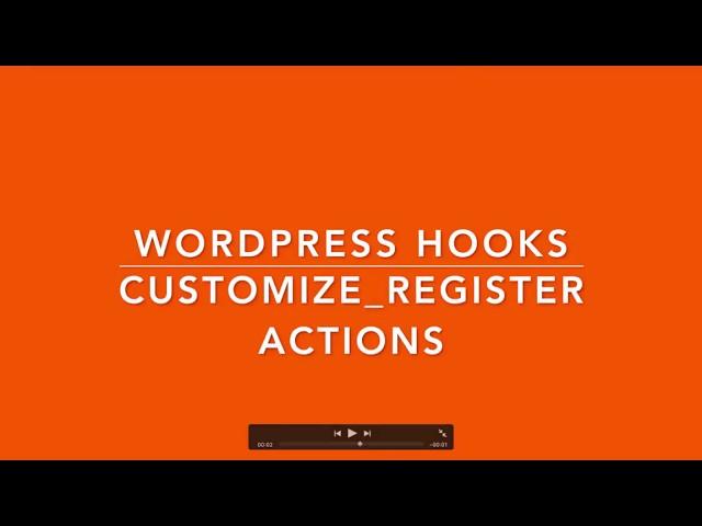 WordPress Action Hooks customize register Part-23 Example