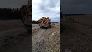 Неудачная эвакуация  КамАЗ лесовоз