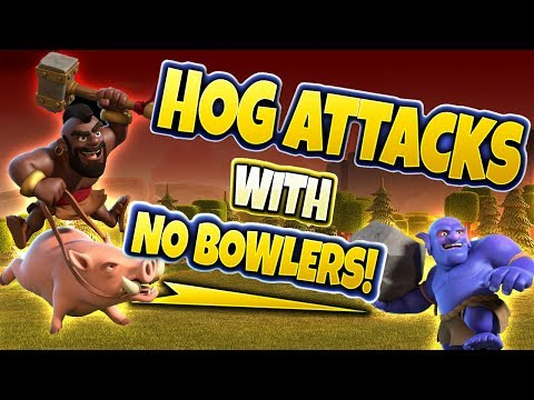 HOG ATTACKS WITH NO BOWLERS - Clash of Clans
