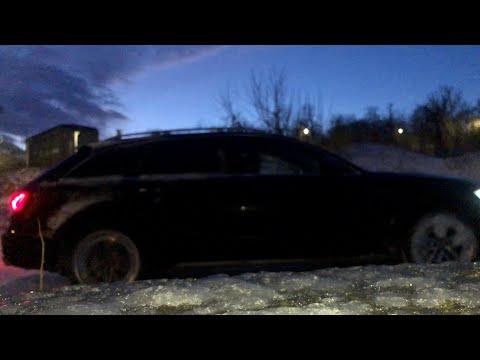 Audi A6 Allroad 3.0 BiTDI Quattro Sport Differential Reaction (Dynamic Vs Allroad) On The Snow Test